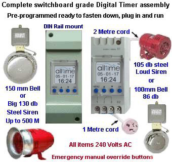 "Orbis digital timer Alltime pkge 4""  Bell up to 500 metre Sirens"